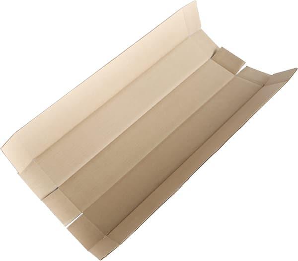 Plaque rainée 5 faces sans collage, appelé aussi teckel (pour emballage long et étroit)